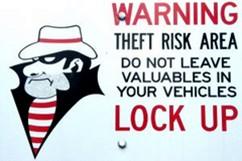 Waarschuwing tegen inbrekers