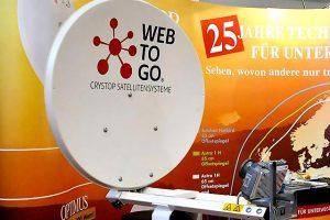 Sneller en stabieler internet via de satelliet met Crystop WebToGo