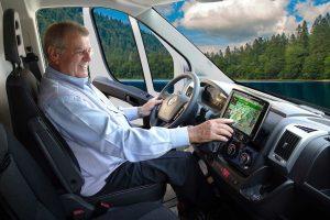 Navigatie- en infotainment apparatuur voor campers