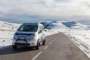 Elektrische Nissan e-NV200 Winter Camper Concept