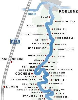 Noord-Moezel, van Koblenz tot Zell