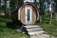 De sauna van de buitenkant