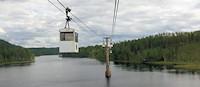 Picknickmand mee en je maakt een bijna 2 uur durende reis in een kabelbaan door de noord-Zweedse natuur! [© Campersite.nl]