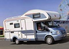 Alkoof camper